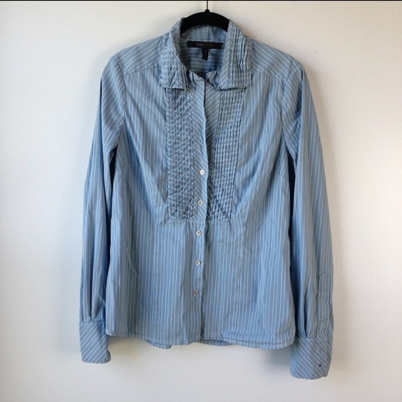 BCBGMaxAzria Tops - BCBGMaxazria Pinstripes Button Down Shirt